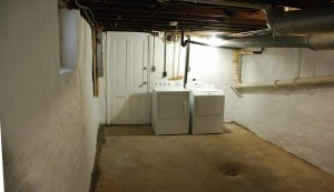 This is the basement after the paint job.
